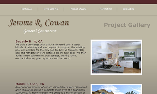 Jerome Cowan - General Contractor